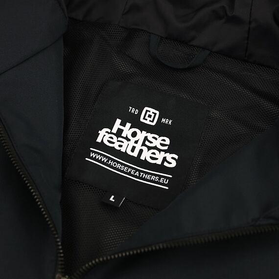 Horsefeathers jarní bunda Closter black - vnitřní label