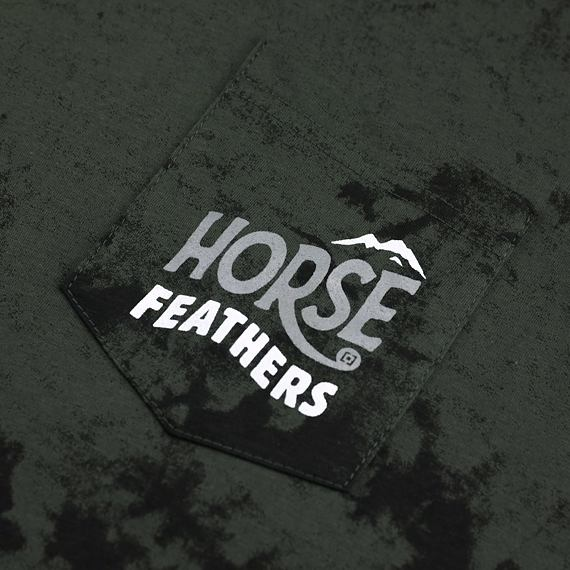 Horsefeathers triko Crest gray tie dye - potisk