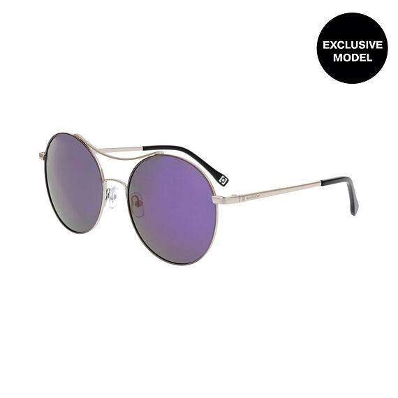 Coney sunglasses - silver/mirror purple