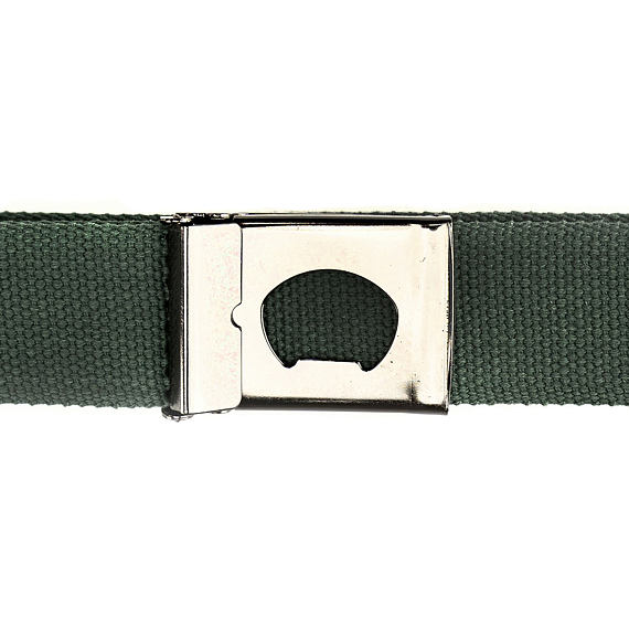 Horsefeathers pásek Idol olive - spona s otvírákem