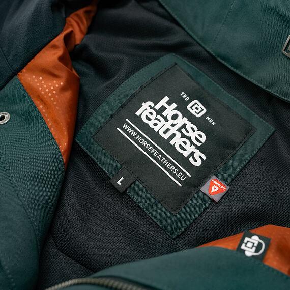Horsefeathers bunda Barnett deep green - vnitřní label