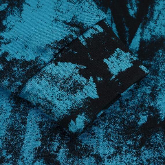 Horsefeathers mikina Leader blue tie dye - rukáv