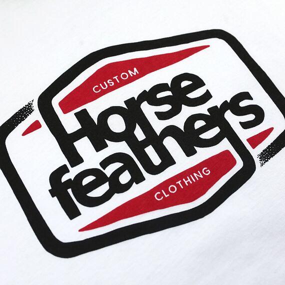 Horsefeathers triko Cornick white - potisk