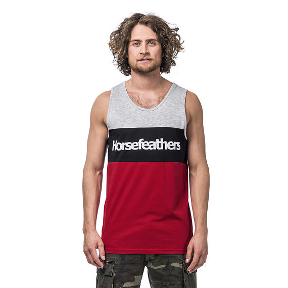 Spaz tank top - lava red