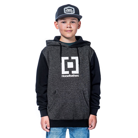 Leader Youth hoodie - black melange
