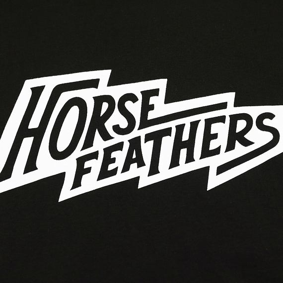 Horsefeathers triko Fang Youth black - potisk