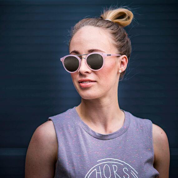 Sluneční brýle Horsefeathers Nomad - gloss rose/mirror champagne
